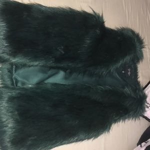 Green fur vest by Jessica Simpson size small